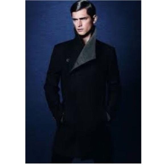 f2a30a73 Zara Jackets & Coats | Black Tag Asymmetrical Coat | Poshmark